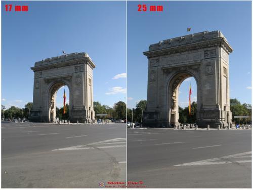 Distanta focala 17mm vs. 25mm