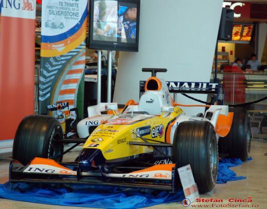 Masina lui Alonso la Baneasa Shopping City
