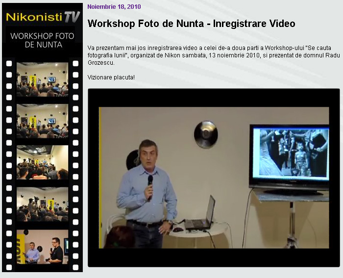 inregistrare video seminar fotografia de nunta