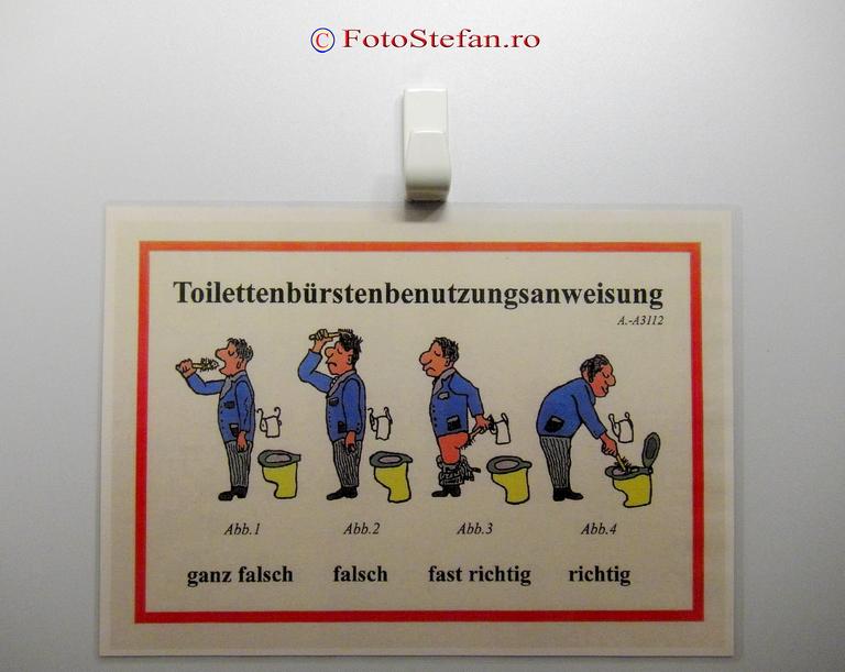 instructiuni de folosire a toaletei