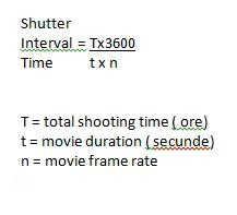 shutter interval time