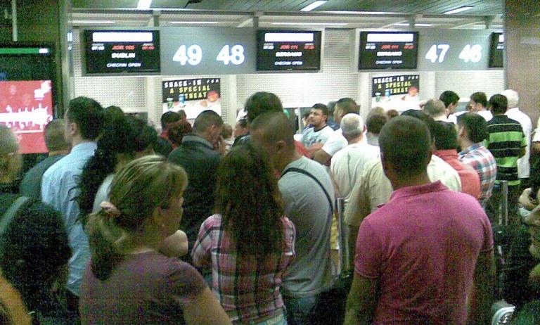coada la aeroport