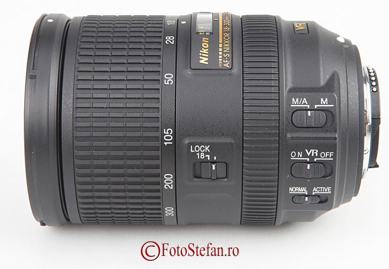 butoane obiectiv zoom nikon 18-300mm
