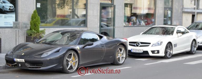 Ferrari 458 Italia vs mercedes