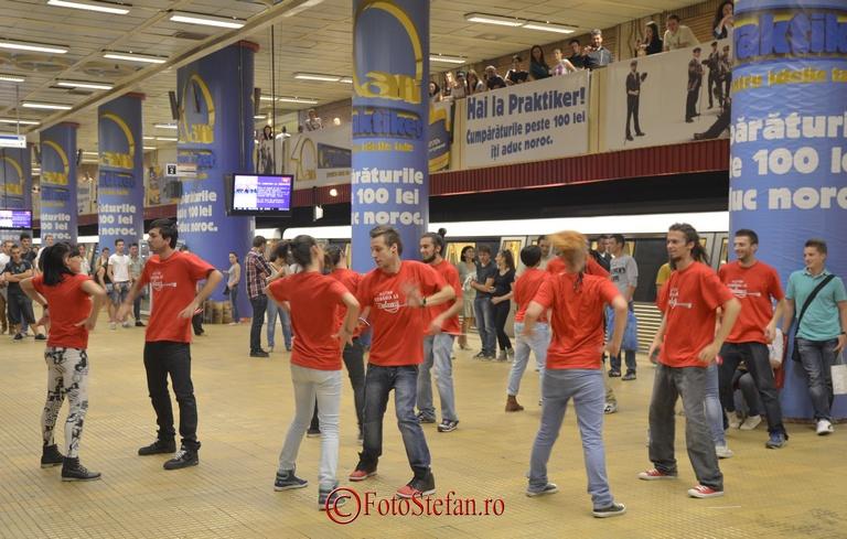 flashmob metrou bucuresti