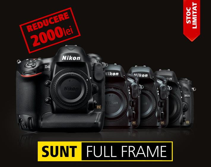 reducere aparate foto full frame nikon