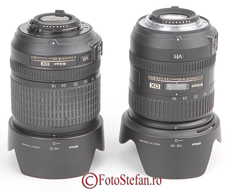 Nikon AF-S 16-85mm f/3.5-5.6G ED VR DX Nikon 18-105mm f/3.5-5.6G AFs VR