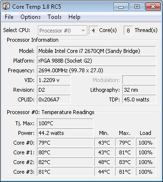 Core Temp 0.99.8 toshiba p755-12g