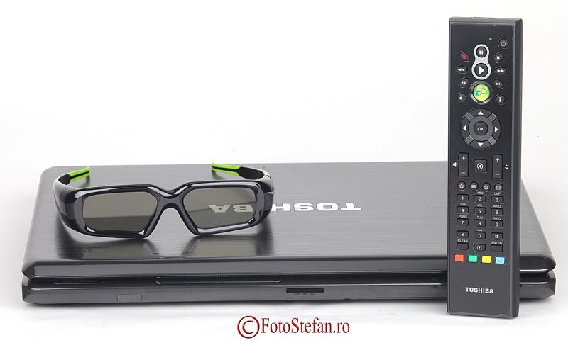 ochelari 3D si telecomanda laptop