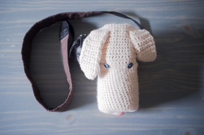 husa catel tricotata