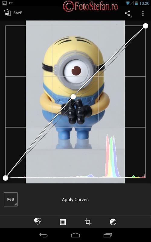 editor foto curves