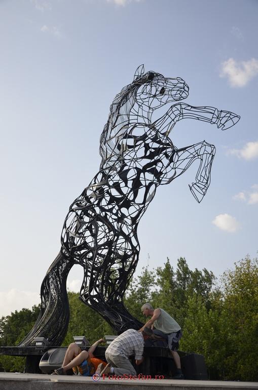 montare statuie metal
