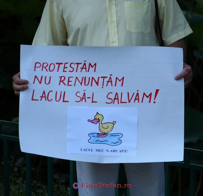 mitingul de protest pentru lac