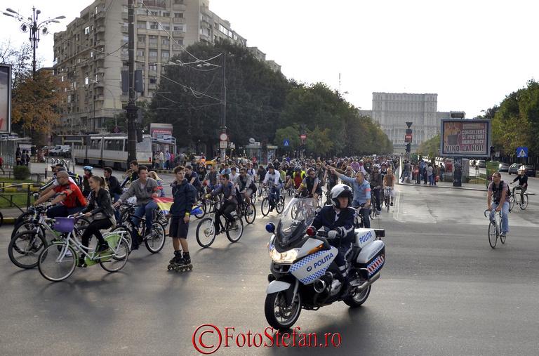 marsul de protest al biciclistilor