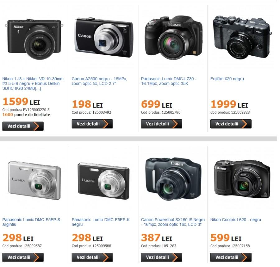 aparat foto compact promotie