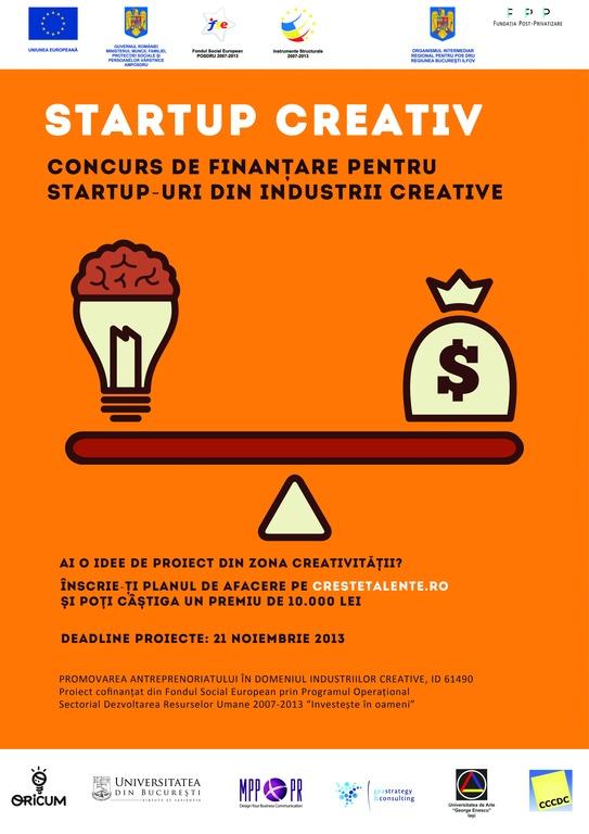 Concurs de finanţare pentru proiecte culturale şi creative