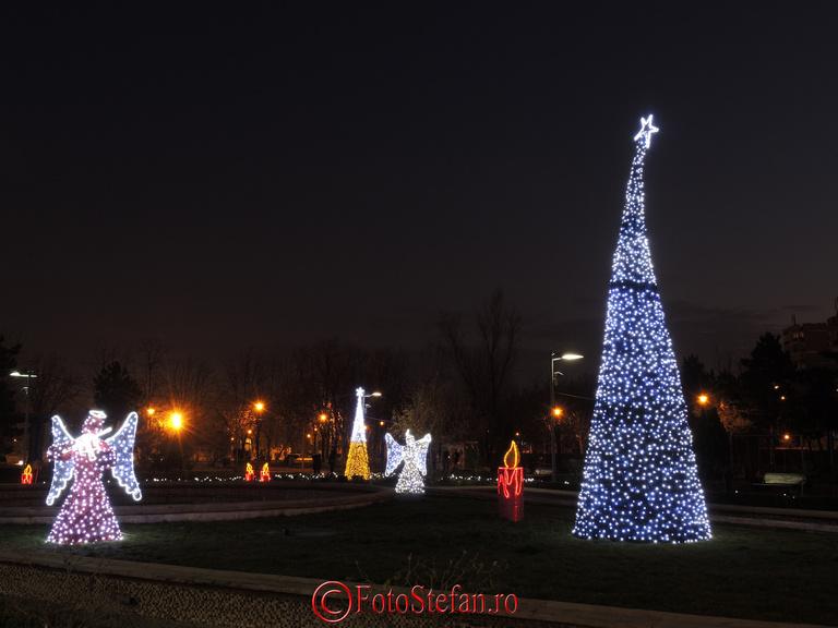 """lumini craciun 2013 parc """"Alexandru Ioan Cuza"""""""