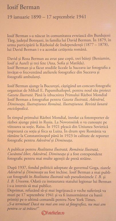 bibliografie iosif berman