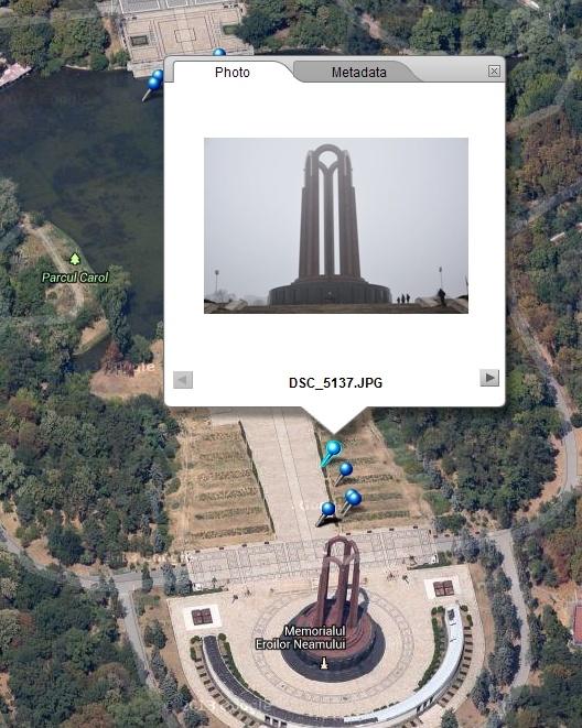 gps Mausoleul din Parcul Carol