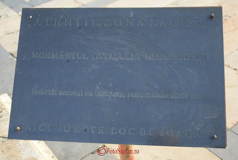 Mormintul Ostasului Necunoscut parcul carol I