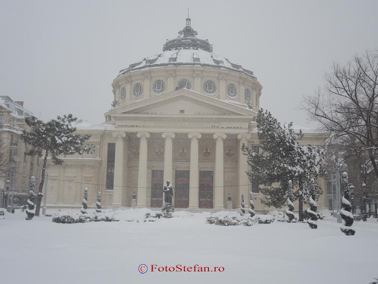 atheneul roman bucuresti iarna