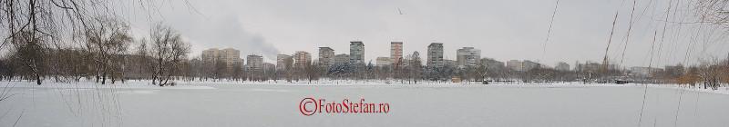 iarna Parcul Alexandru Ioan Cuza