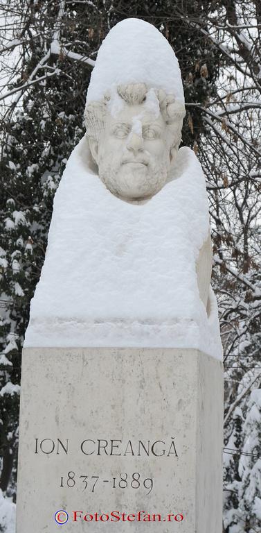 statuie ion creanga iarna