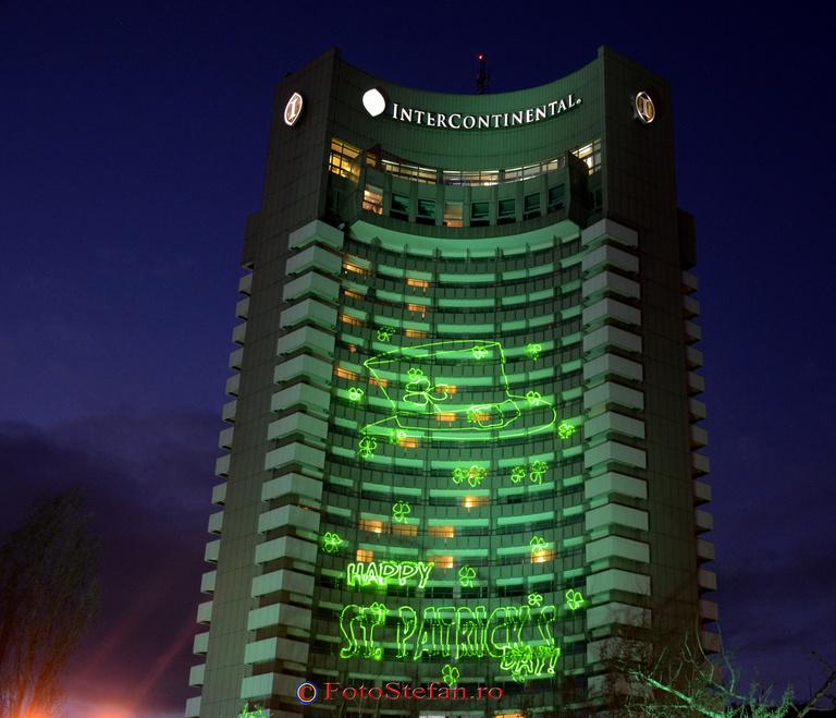 Hotelul InterContinental Bucuresti iluminat