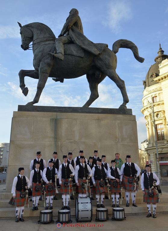 cimpoieri irlandezi bucuresti statuia mihai viteazu
