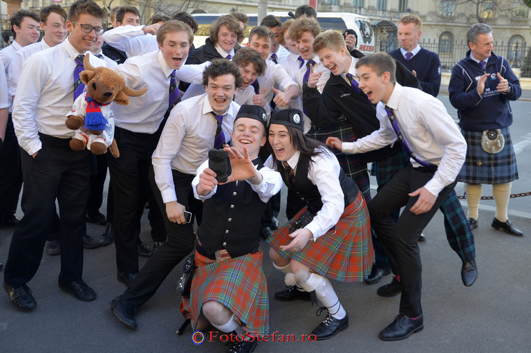 selfie  irlandezi scotieni la bucresti