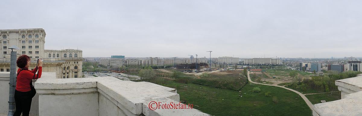 fotografie panoramica de pe terasa mnac