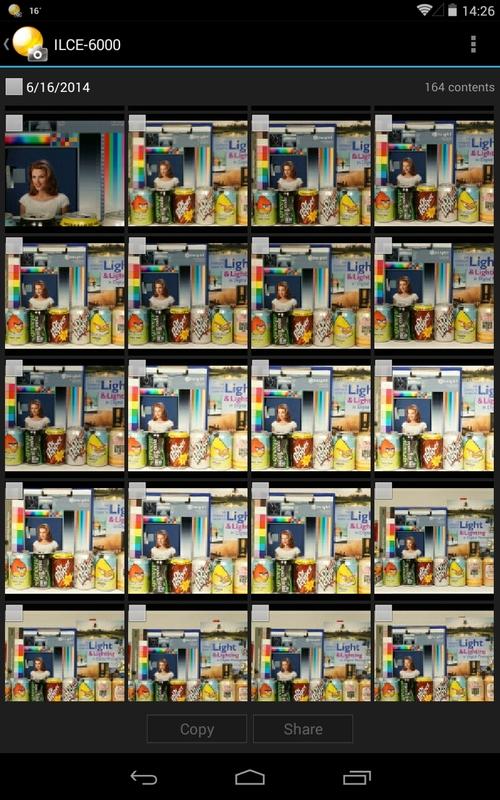 poze transferate pe tableta