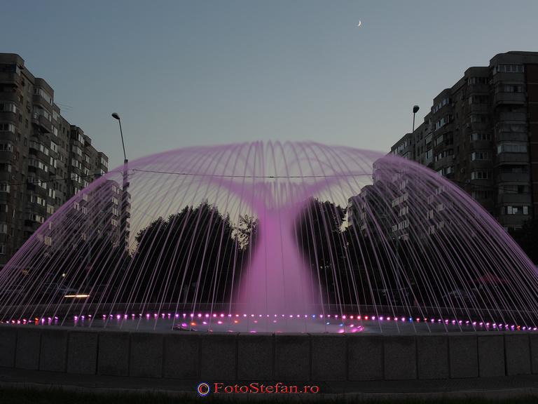 Fantana cu jeturi tip parabole din Bucuresti