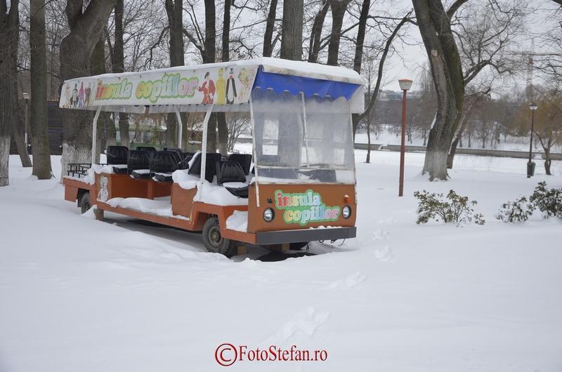 parc herastrau iarna