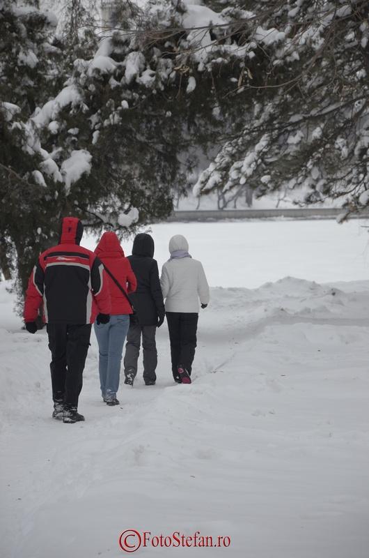 plimbare parc herastrau iarna