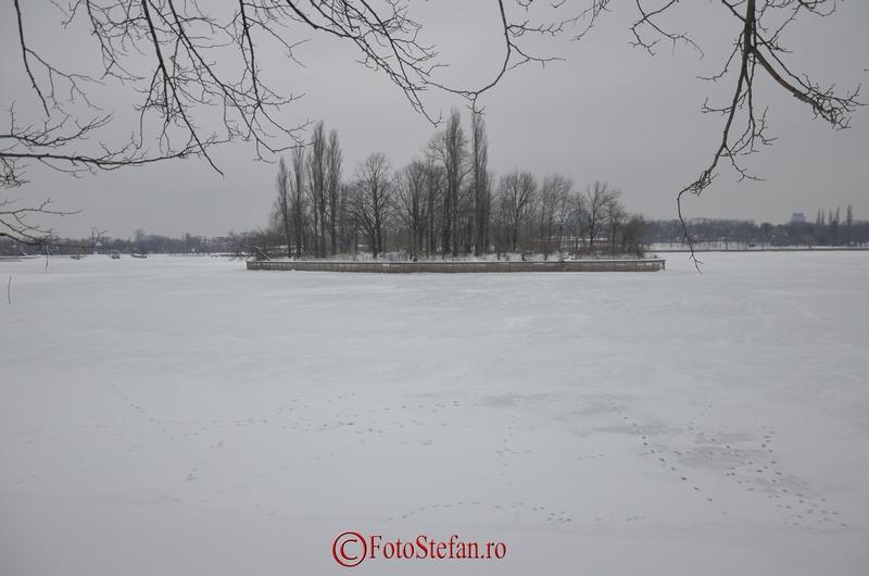 insula lac herastrau zapada