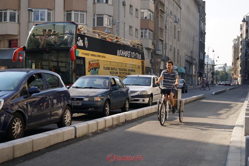 tricicleta pisat biciclisti calea victoriei