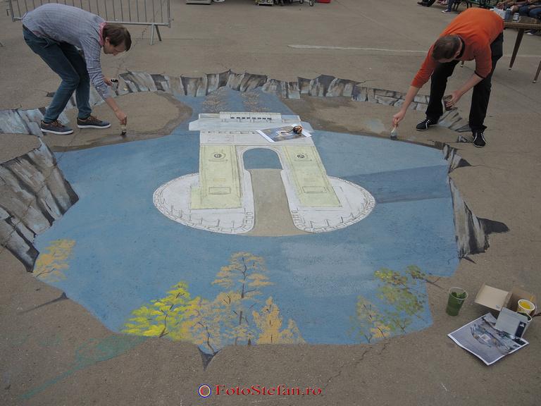desen 3d asfalt parcul tineretului