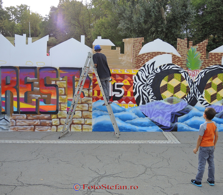 spectator desenare graffiti