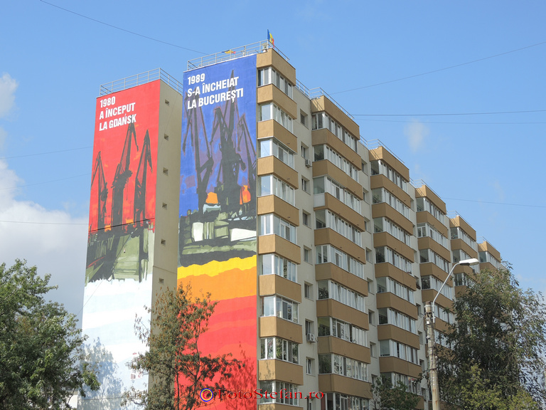 pictura murala str. valea ialomitei