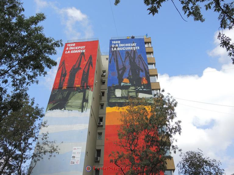 caderea comunismului pictura murala