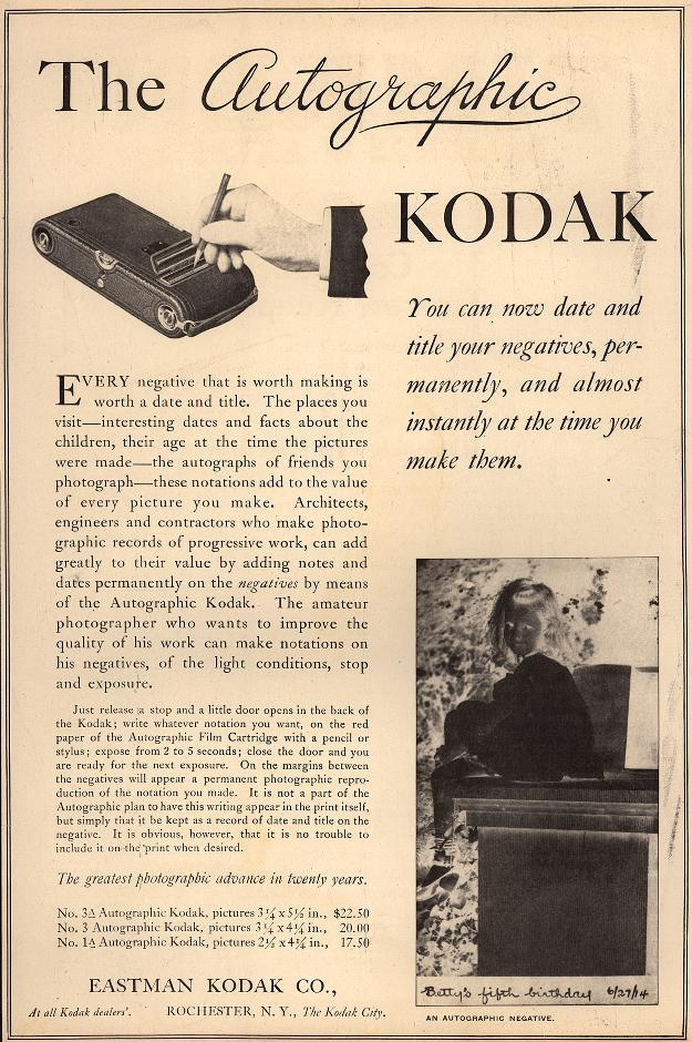 Kodak Autographer System