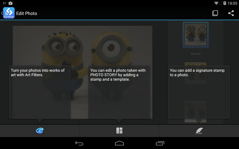 app OLYMPUS Image Share