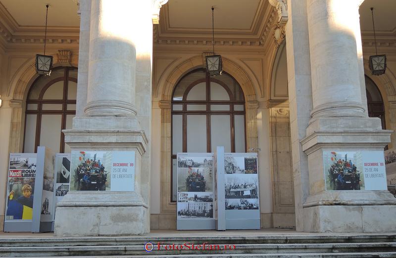 terasa dinspre Calea Victoriei a Muzeului Naţional de Istorie a României