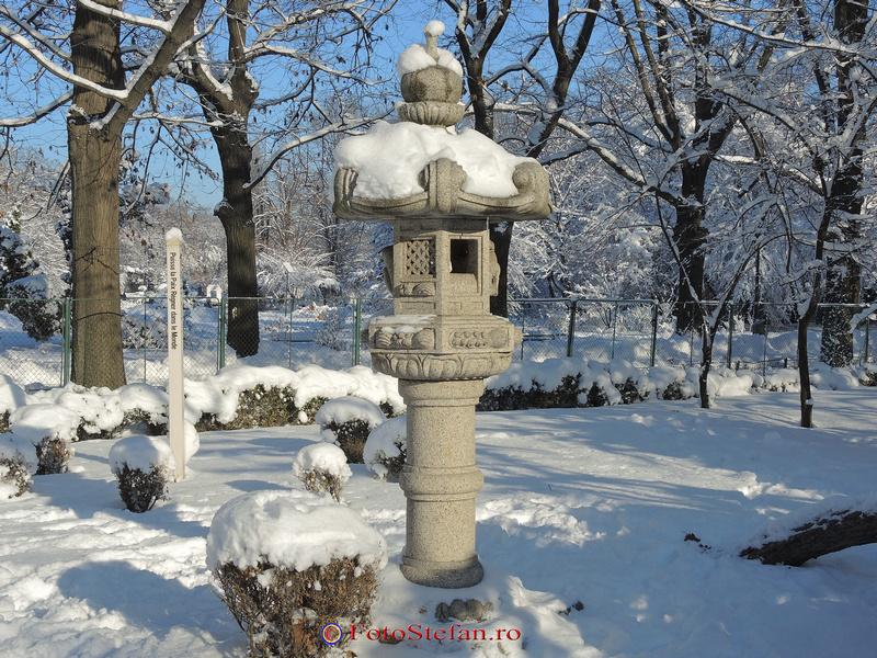 iarna zapada gradina japoneza bucuresti