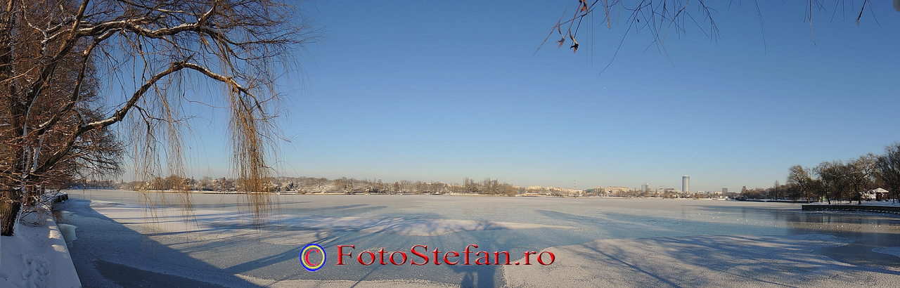 poza panoramica herastrau iarna