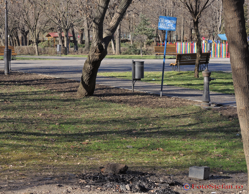 loc amenajat gratar parcul plumbuita