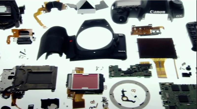 componente aparat foto digital