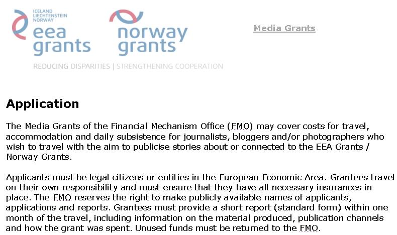 Granturi pentru jurnalisti, bloggeri si fotojurnalisti