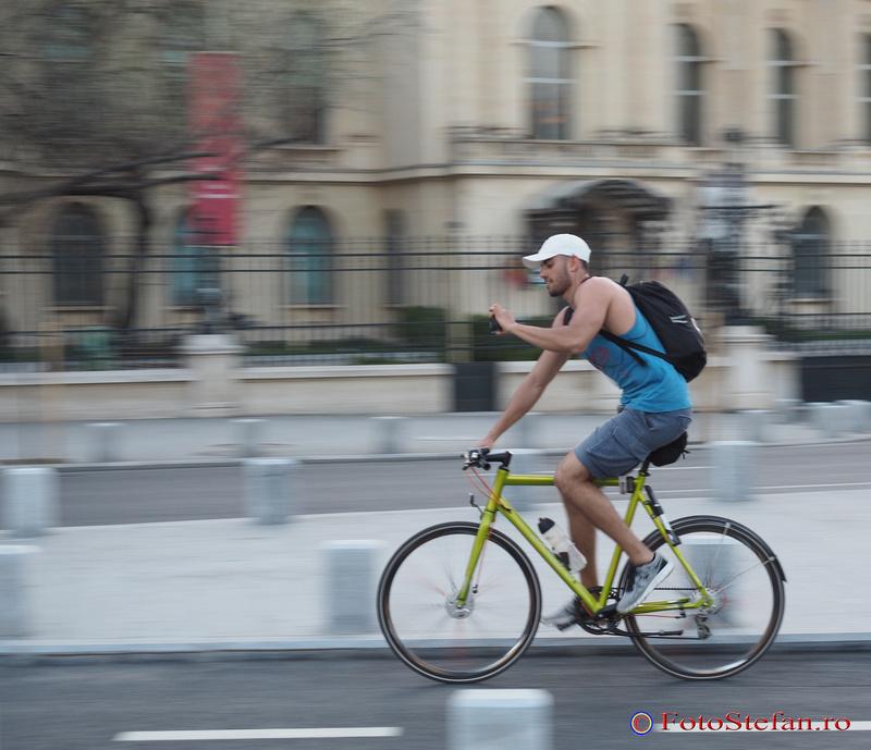 poza panning biciclist